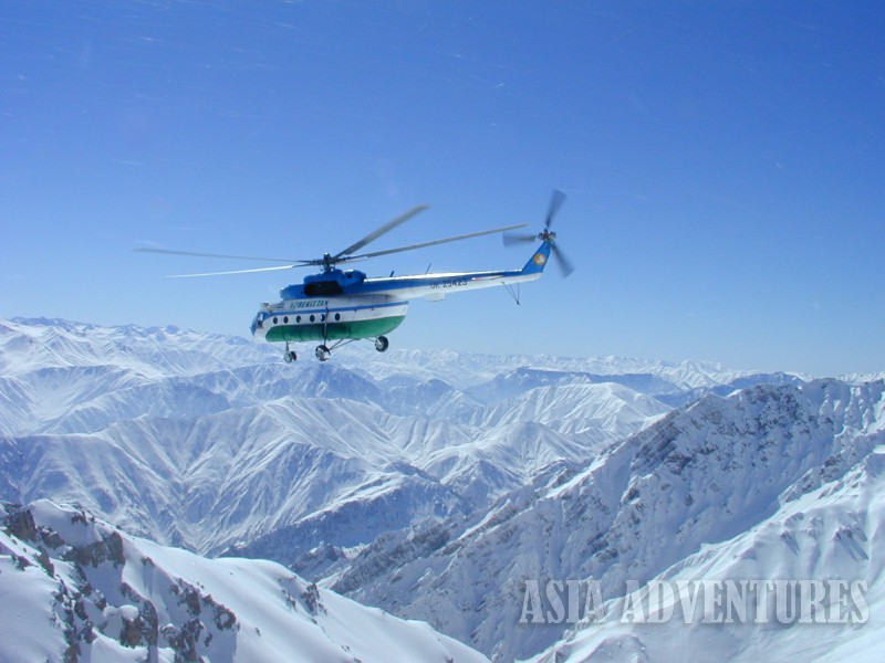 Photo 1. Heli ski Heliboard
