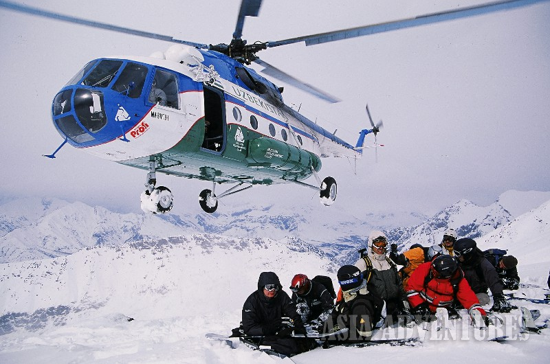 Photo 3. Heli ski Heliboard